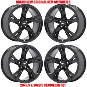 20x8 5 20x9 5 Chevrolet Camaro Ss Black Wheels Rims Factory Oem 2019 2020