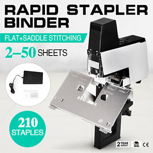 Auto Rapid Stapler Flat saddle Binder Machine Book Binding Machine 2 50 Sheets