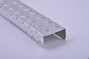 Diamond Plate Aluminum C channel 0 063 16 Gauge 72 X 2 X 6 X 2 W kicks