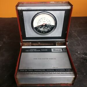 Vintage Snap On Tools Mt425 Vacuum Fuel Pump Pressure Gauge