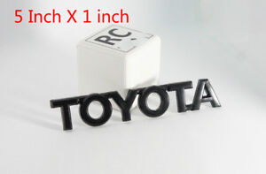 Black Tundra 4 Runner Tacoma Fj Cruiser Side Trunk Badge Emblem For Toyota