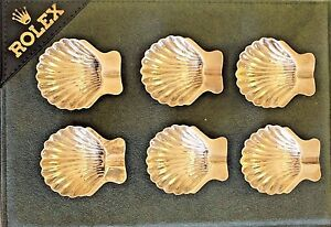 Vintage Sterling Silver Clam Shaped Ash Trays Circa 1950 S 6 Pieces 112 Grams