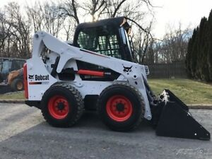2013 Bobcat S650 Rubber Tire Skid Steer Cab Ac Switchable Controls Bob Cat