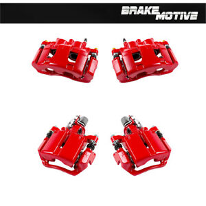 Front And Rear Red Brake Calipers For Chevrolet Impala 2011 2012