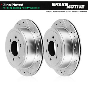 Rear Drilled And Slotted Plated Brake Rotors For 2006 2009 Niss
