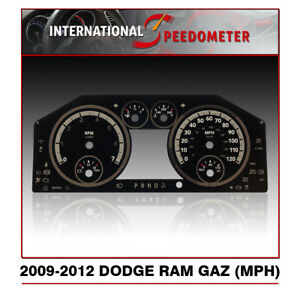 2009 2012 Dodge Ram Speedometer Faceplate Mph Gas 50pcs