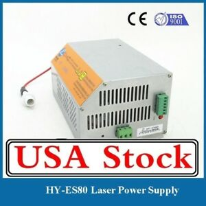 Es80 Laser Power Supply With 80w For Efr F2 Reci W2 Yongli Co2 Laser Tubes