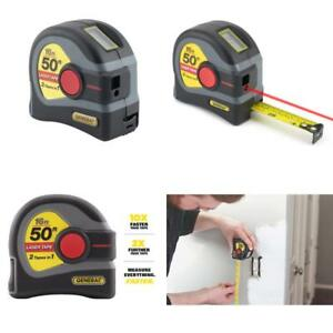 General Tools Ltm1 2 in 1 Laser Tape Measure Lcd Digital Display 50 Laser M