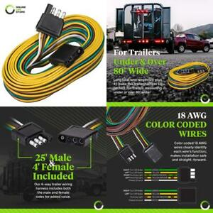 Online Led Store 4 Way Flat Wishbone Style Trailer Wiring Harness Kit 25 Male