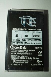 Offer Buy 5 Tf Twisted Nickel Titanium Rotary File Size 25 Taper 04 Length 23mm