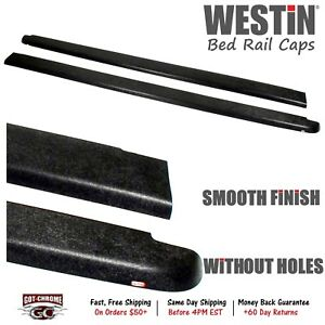 72 40461 Westin Black Bed Rail Caps Dodge Dakota 5 3 Bed 2005 2011
