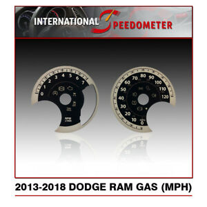 2013 2018 Dodge Ram Gaz Speedometer Faceplate Mph 50pcs