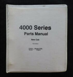 1997 Johnston 4000 Series Street Sweeper Broom Parts Catalog Manual W cab Binder