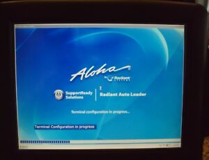 Radiant Systems P1515 Touch Screen Pos Terminal W aloha Power Supply Card Reaer