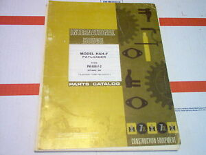 Hah f Hough International Payloader Parts Catalog original