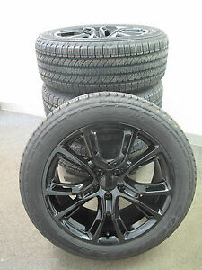 20 X9 New Jeep Grand Cherokee Srt8 Style Gloss Black Four Wheels Tires 9113