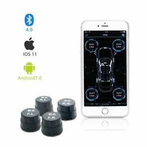 Tire Pressure Monitoring System Wireless External Tpms Sensors Real Time