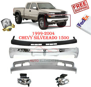 Front Bumper Kit W Fog Lights For 1999 2004 Chevy Silverado Tahoe Suburban 5pc