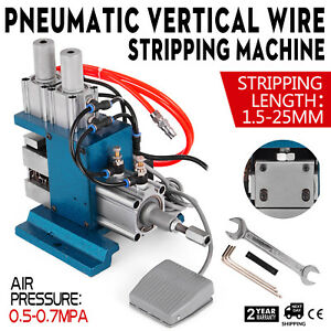 Powered Electric Wire Stripping Machine Vertical Metal Tool Scrap Cable Stripper