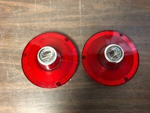 1962 Ford Fairlane 1963 Falcon Tail Light Lenses W Mount Screws New Repro Pair