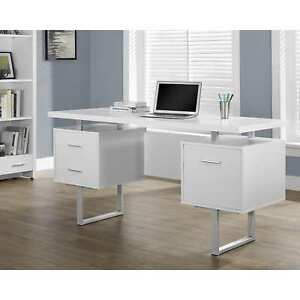 Strick Bolton Joffe White Metal Office Desk
