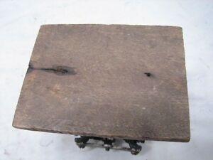 Antique Primitive Wooden Mortised Milking Foot Stool Bench Rest Farm Country