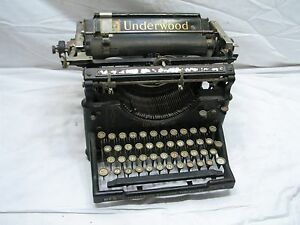 Underwood No 5 Antique Typewriter Standard Mechanical Writing Machine Age
