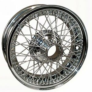 Coker Tire D472ctt 15x5 Dayton Wire 72 Spoke Chrome Requires Tube Fits Jaguar E