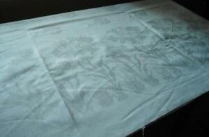 7 Yards Linen Damask Tablecloth Fabric Yardage Lilies 250 Banquet Size