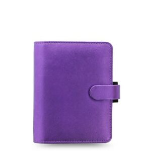 Filofax Saffiano Metallic Pocket Organizer Violet 028770 New Item