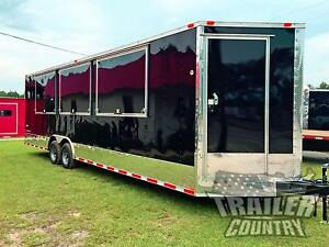 New 8 5 X 28 28 V Nosed Enclosed Vending Concession Trailer 10k Axles