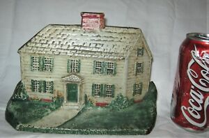 Antique Usa Birth Place Sophia Smith House Cast Iron Doorstop Founder President
