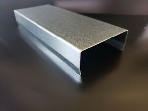 Galvanized Steel C channel 16 Gauge 0 064 36 X 2 X 6 X 2 W kicks