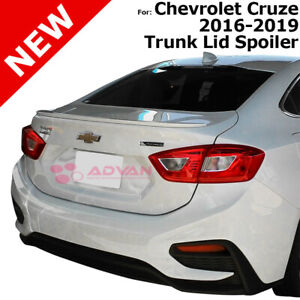 Primer Unpainted Rear Trunk Flush Mount Spoiler For Chevrolet Cruze 16 19