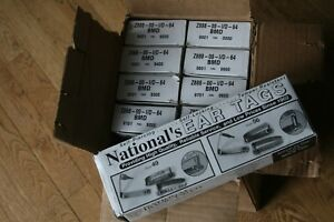 Lot Of 10 Boxes 1000 New Ear Tags Metal Cattle Id Tag s National s 49 56