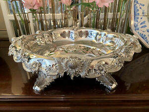 Sterling Silver Tiffany Co Chrysanthemum Footed Centerpiece Bowl