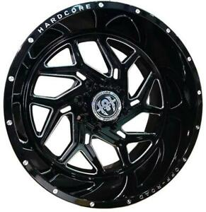 26 Inch 26x12 Hardcore Offroad Hc12 Black Milled Wheel Rim 6x5 5 6x139 7 44