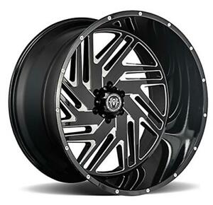 26 Inch 26x14 Hardcore Offroad Hc11 Black Milled Wheel Rim 5x5 5x127 76