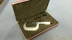 L s Starrett No 2m Micrometer With Carbide Tips And Case Used Excellent