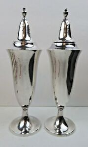 Gorham Solid Sterling Silver 6 5 Tall Salt Pepper Shakers Date Mark 1925