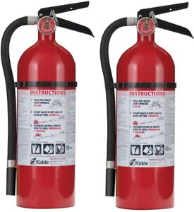 Kidde Fire Extinguisher 7 5 Lb Rechargeable Mounting Bracket 2 pack
