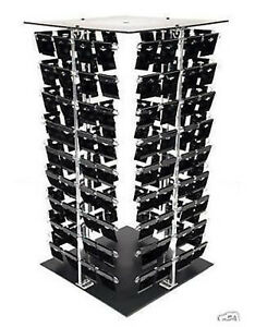 Acrylic Rotating Earring Display Stand Revolving With 200 Black Earring Cards