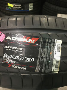 1 New 245 30 20 Yokohama Advan Sport Tire
