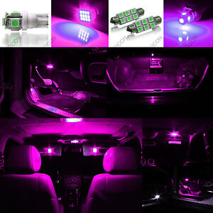 8 X Pink Purple Led Interior Lights Package For 2011 2014 Model Map Dome Light