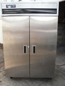 Used Delfield 2 Solid Stainless Steel Doors Reach In Freezer 6151 s With Key