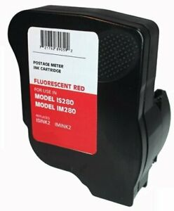 Neopost Isink2 Fluorescent Red Ink Cartridge 90 Day Warranty For Neopost