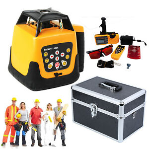 500m Range Automatic Red Laser Level Rotary Self Leveling Ip54 Remote Control