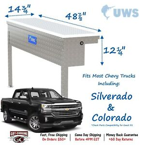 Tbsm 48 Lp Uws Side Mount Series Single Lid Tool Box For Chevy Silverado