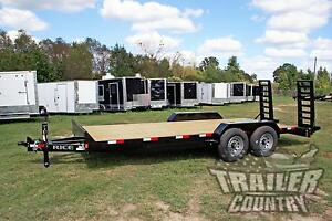 New 2019 7 X 20 14k Rice Flatbed Utility Equipment Hauler Car Hauler Trailer