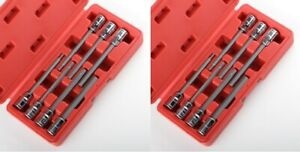 3 8 Metric And Sae Extra Long Hex Allen Bit Socket Set 14pc W Case New Free Ship